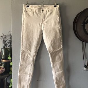 Articles of Society Skinny Stretchy White Jeans